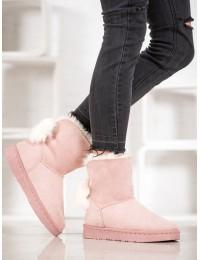 Lengvi patogūs šilti zomšiniai batai su kailiuku - BK901P