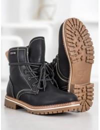 Šilti juodi žieminiai batai - 025-PA-B