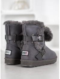 Madingi zomšiniai batai su kailiu - X01G