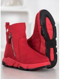 Madingi zomšiniai raudoni batai - SJ1938R