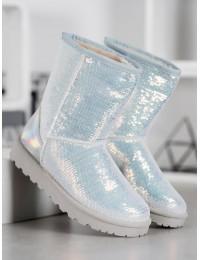 Balti žėrintys madingi žieminiai batai - BL175W