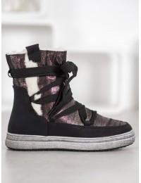 Šilti žieminiai batai su kailiuku - 559-PA-B