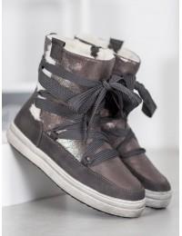 Šilti žieminiai batai su kailiuku - 559-PA-G