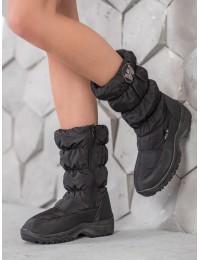 Juodi lengvi ypač patogūs ir šilti batai su avikailiu - 5014B