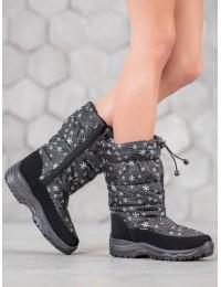 Juodi/ pilki lengvi ypač patogūs ir šilti batai - H52-1B