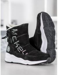 Natūralios versto odos šilti batai su avikailiu - DBT1067/19B