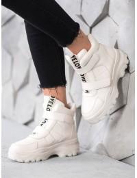 Madingi balti batai su platforma - 8065BE