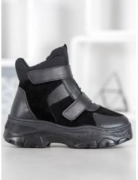 Madingi balti batai su platforma - 8065B