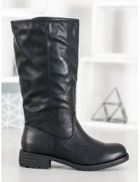 Juodi odiniai batai su pašiltinimu - 1090-PG-B