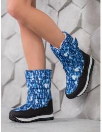 Šilti patogūs žieminiai batai - 802023-08BL/W