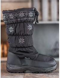 Juodos spalvos šilti žieminiai batai - 5017B