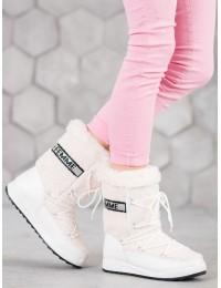 Baltos spalvos šilti žieminiai batai - LT978W
