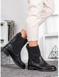 Originalūs juodi batai su pašiltinimu - 7969B