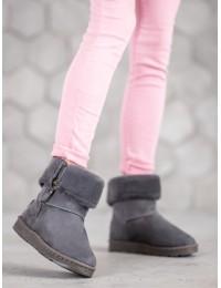 Pilkos spalvos šilti žieminiai batai - X15G
