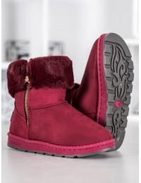Vyno spalvos šilti žieminiai batai - X15R