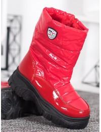 Madingi šilti komfortiški raudonos spalvos batai - XY4129R