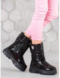 Madingi šilti komfortiški juodos spalvos batai - XY4129B