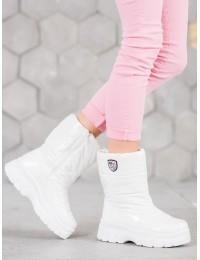 Madingi šilti komfortiški baltos spalvos batai - XY4129W
