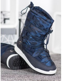 Lengvi šilti komfortiški mėlynos spalvos batai - LT989BL