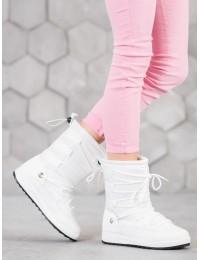 Lengvi šilti komfortiški baltos spalvos batai - LT989W
