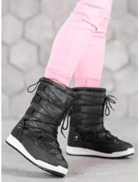Lengvi šilti komfortiški juodos spalvos batai - LT989B