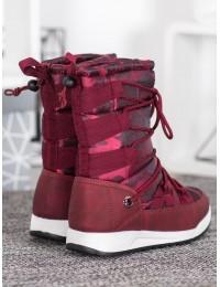 Lengvi šilti komfortiški vyno spalvos batai - LT989WI