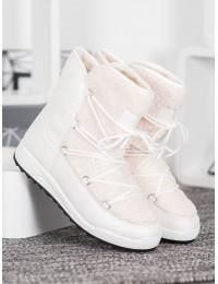 Madingi šilti komfortiški baltos spalvos batai - LT987W
