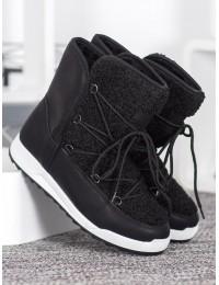 Madingi šilti komfortiški juodos spalvos batai - LT987B