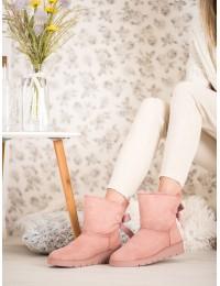 Rožinės spalvos šilti batai su platforma - A-3P
