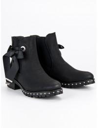 Originalūs stilingi juodi aulinukai - E4952B