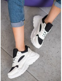 Madingi originalūs batai su platforma - MS381-90W/B