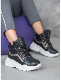 Juodi madingi batai su platforma - RB-3348B