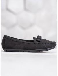 Visuomet stilingi ir praktiški juodi mokasinai - 9F150B