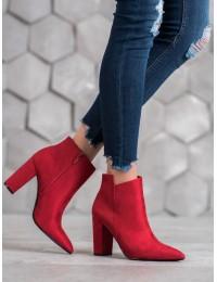 Stilingi raudonos spalvos zomšiniai aulinukai - 5610-R