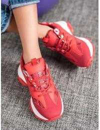 Madingi raudoni batai su gyvatės odos rašto motyvais -SNAKE PRINT  - AB616R