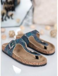 Mėlynos madingos paplūdimio stiliaus šlepetės - 9SD21-1109N