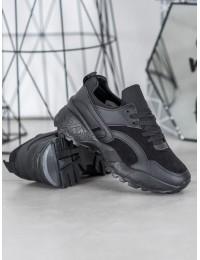 Juodi aukštos kokybės madingi laisvalaikio/ sportinio stiliaus batai - ANN20-14457B