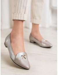 Madingi sidabrinės spalvos elegantiški bateliai - FL616T
