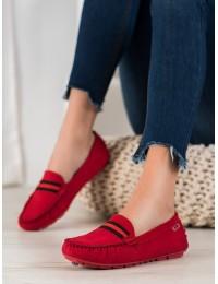 Zomšiniai raudonos spalvos mokasinai - FL617R