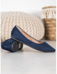 Visuomet elegantiški ir stilingi zomšiniai mėlyni bateliai - CD52N