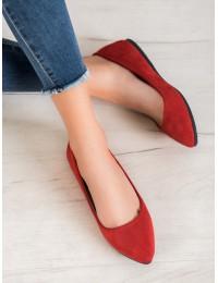 Visuomet elegantiški ir stilingi zomšiniai raudoni bateliai - CD52R