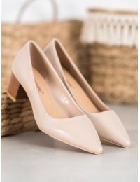 Elegantiški klasikiniai smėlio spalvos bateliai - CL76BE