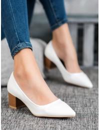 Elegantiški baltos spalvos bateliai - CL76W