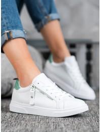 Balti stilingi aukštos kokybės laisvalaikio stiliaus bateliai - AB706W/GR