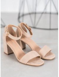 Klasikinio stiliaus smėlio spalvos basutės - YQE20-17058BE