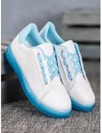 Originalūs balti batai su platforma - H-33BL