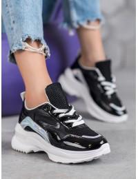 Stilingi SNEAKERS modelio batai su platforma - BO-537B