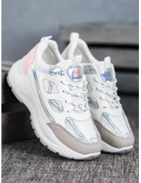 Stilingi baltos spalvos batai su platforma - FF-1W