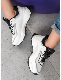 Stilingi baltos spalvos batai su platforma - RAL-69B