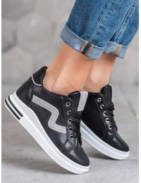Juodos spalvos aukštos kokybės batai su platforma - BO-228B/S